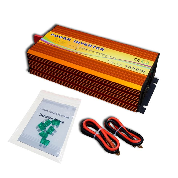 202.39$  Watch now - http://aliss4.worldwells.pw/go.php?t=32627745763 - ECO-SOURCES 1500W Inverter 12V to 110V Off Grid Inverter 1.5KW Inverter for Solar Panel Solar System