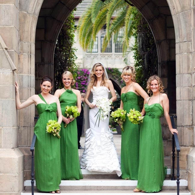 photo by: Roey Yohai Photography // Event Planning: Lauren Malis, Palm Beach, FL //Location: Cafe Boulud at The Brazilian Court Hotel // Bridesmaid Looks: Amsale