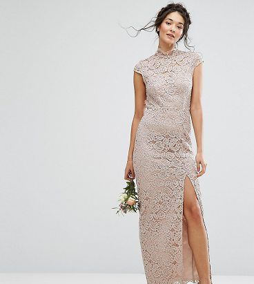 On SALE at 31% OFF! WEDDING High Neck Lace Dress With Cap Sleeve by TFNC. Lace dress by TFNC, Floral lace, Partial lining, High neck, Cap unlined sleeves, Open back, Zip-back fastening, Close...