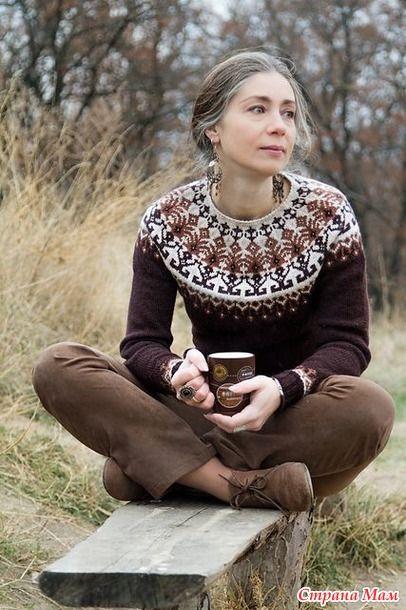 """Bohus knitting-особая техника жаккарда!  Вот что написано в книге Венди Кил, """"Вязание в стиле """"Бохус""""."""