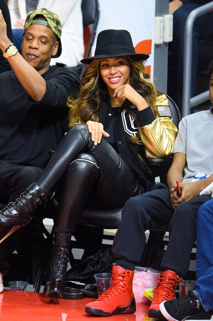 Beyoncé & Jay Z at The Los Angeles Clippers Game (Jan. 16th, 2015) | STYLE | FASHION | M E G H A N ♠ M A C K E N Z I E