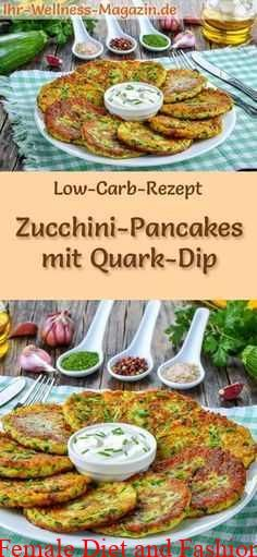 Low Carb Recipe for Zucchini Pancakes with Quark Dip: Low Carbohydrate, Hearty ….