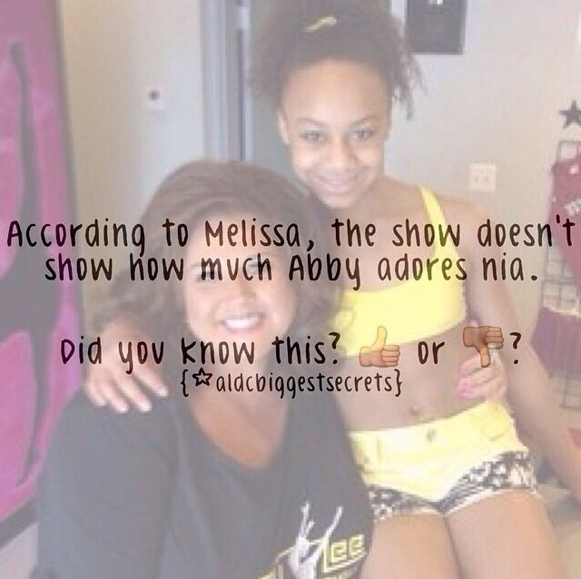 Dance Moms facts spam! (These are not made by me) I would LOVE Nia as my student