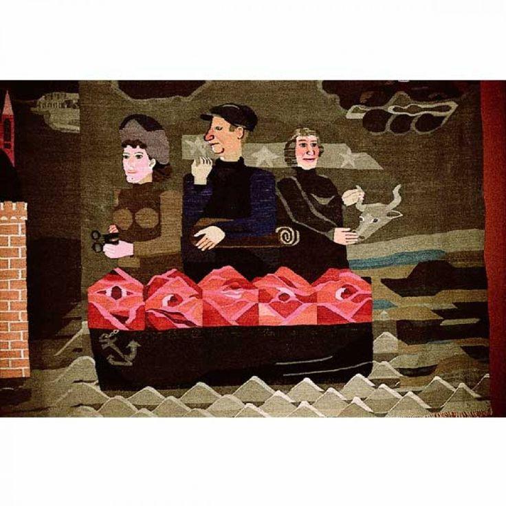 Hanna Ryggen weaving