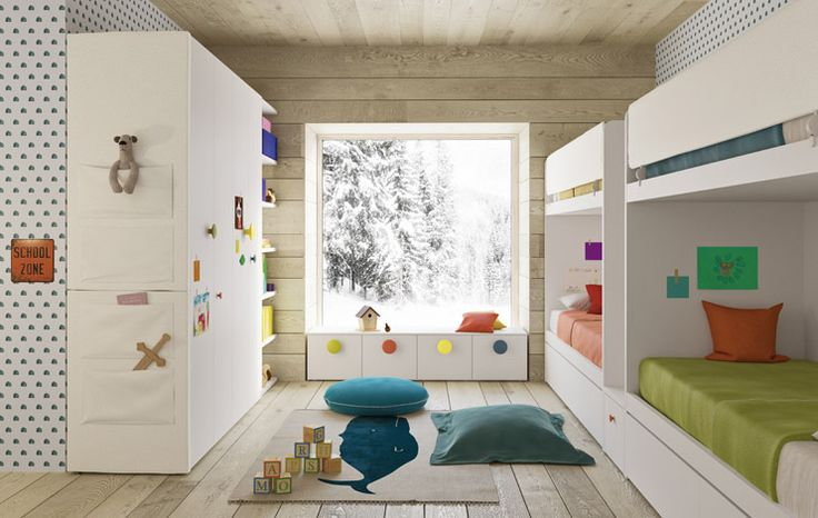 Cameretta Nidi www.magnicasa.it #magnicasa #camerette #design  #children #follow