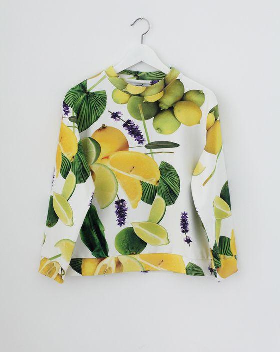 Oh so fresh for summer!! Lemon print jumper.