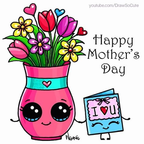 Have a wonderful weekend celebrating MOM DSC fans. This sweet gift for her is now on YouTube.com/DrawSoCute #giftformom #flowersformom