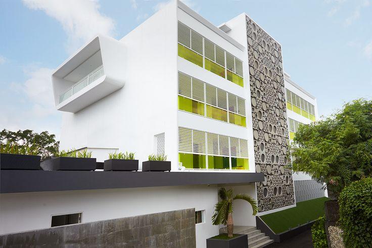 Luna2 studiotel, Bali.  Architecture design by Melanie Hall  #architecture #60s #building #melaniehall #melaniehalldesign