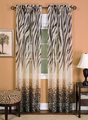 Kenya Safari Inspired Curtain Panel