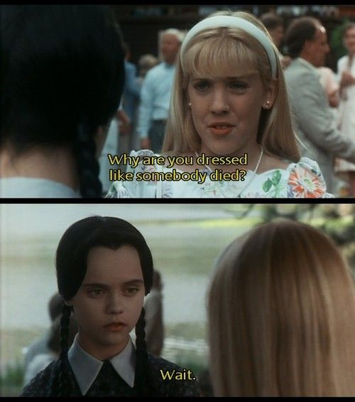 Addams Family Values: Wednesday quotes | heidi | Pinterest ...