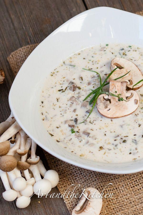 Homemade Mushroom Soup, this the best recipe I've ever made for mushroom soup!