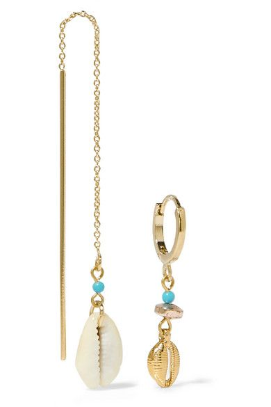 423bdc79db Isabel Marant - Gold-tone, shell and bead earrings in 2019 ...