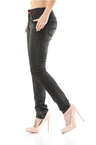 dance in the dark. jett skinny jeans with ankle zips. stone washed for a worn-out look with leather finish and feel.