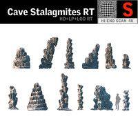 cave stalagmites rt 3d max
