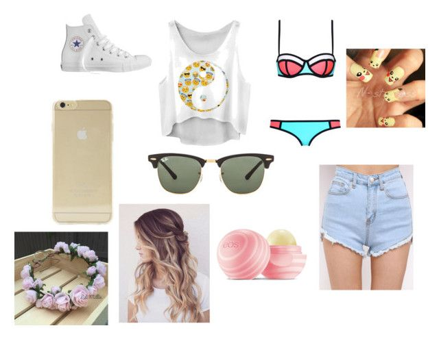 """""""cruse ship"""" by tiggerlilyxoxo ❤ liked on Polyvore featuring Converse, Ray-Ban, Eos and Sonix"""