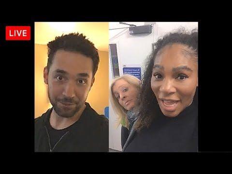 Serena Williams | Instagram LIVE | February 15, 2018 | with husband Alex...