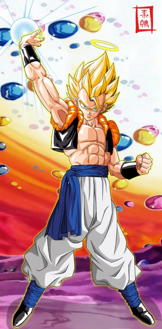 Ultimate Gogeta by SnaKou. see more cartoon pics at www.fabuloussavers.com/wcartoons.shtml