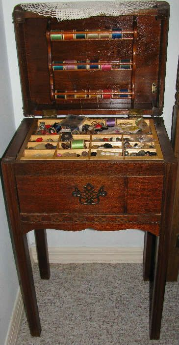 Vintage Sewing Table Cabinet. How cool is this?  Very Cool!