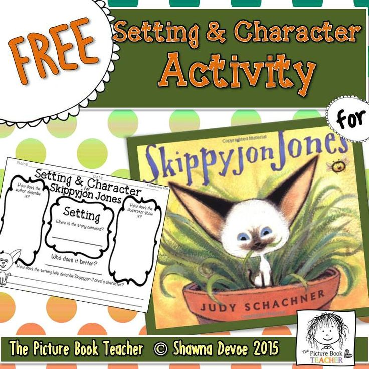 Practice setting and character with this FREE activity inspired by the book Skippyjon Jones by Judy Schachner.