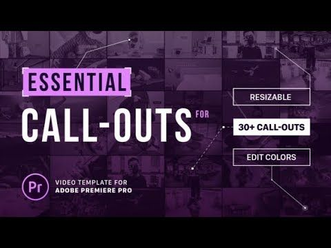 Essential Callouts Library MOGRT for Premiere | AF Templates