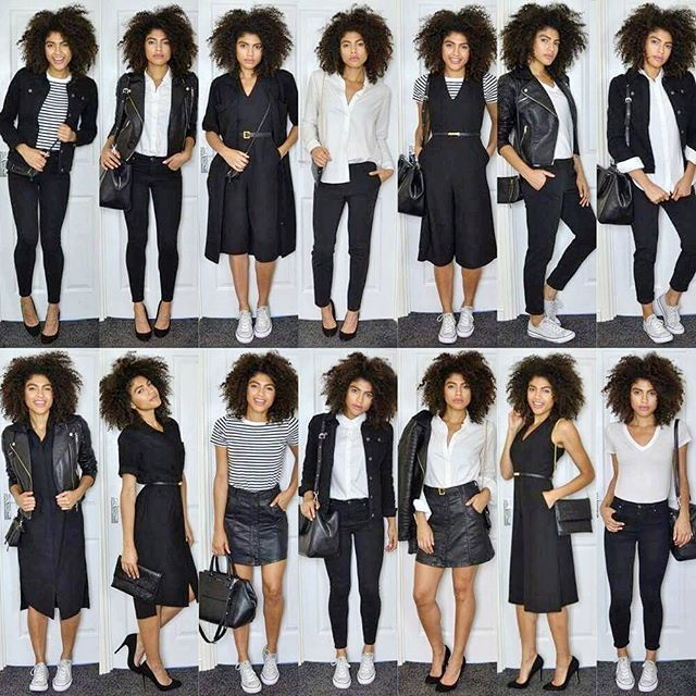 """Capsule wardrobe styling. Looks from my recent monochrome capsule wardrobe style ideas video"""