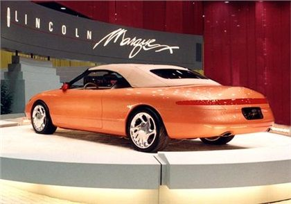 lincoln mark viii concept car lincoln s marque x concept convertible painted a burnt tangerine. Black Bedroom Furniture Sets. Home Design Ideas