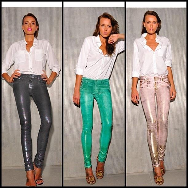 75 Faubourg - metallic jeans ❤