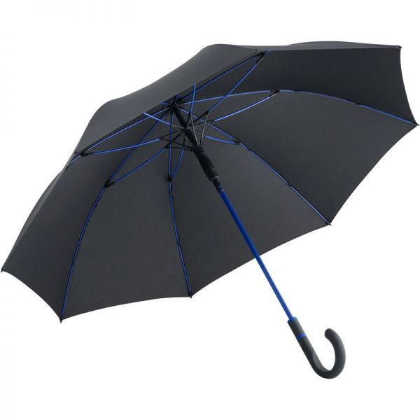 Parapluie publicitaire sobre et contrasté.