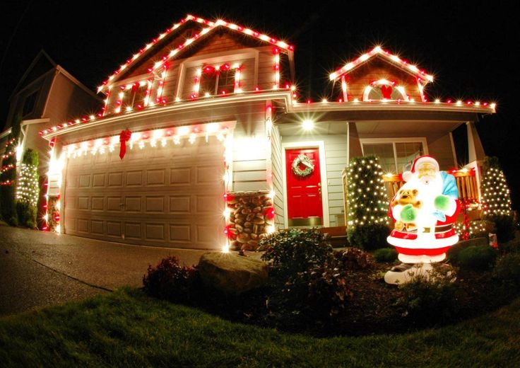 Bright Shining Christmas Lights - 50 Best Outdoor Christmas Decorations…                                                                                                                                                                                 More