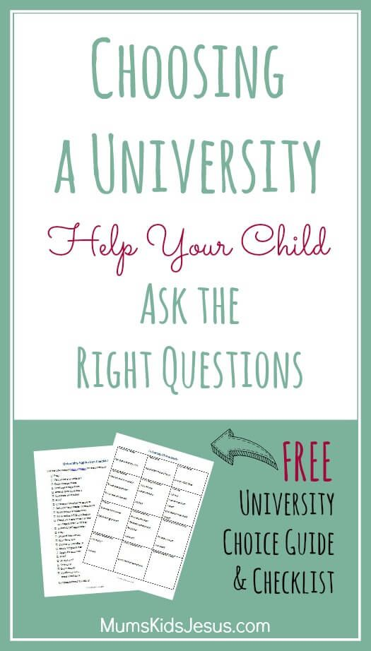Choosing A University: Help Your Child Ask The Right Questions (u0026 Free  University Choice Guide And Application Checklist Part 98