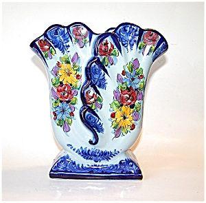 Portugal Vestal Pottery Vase, Alcobaca