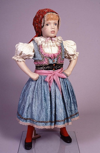 Malenovice Child's national costume (kroje) by Center for Jewish History, NYC, via Flickr