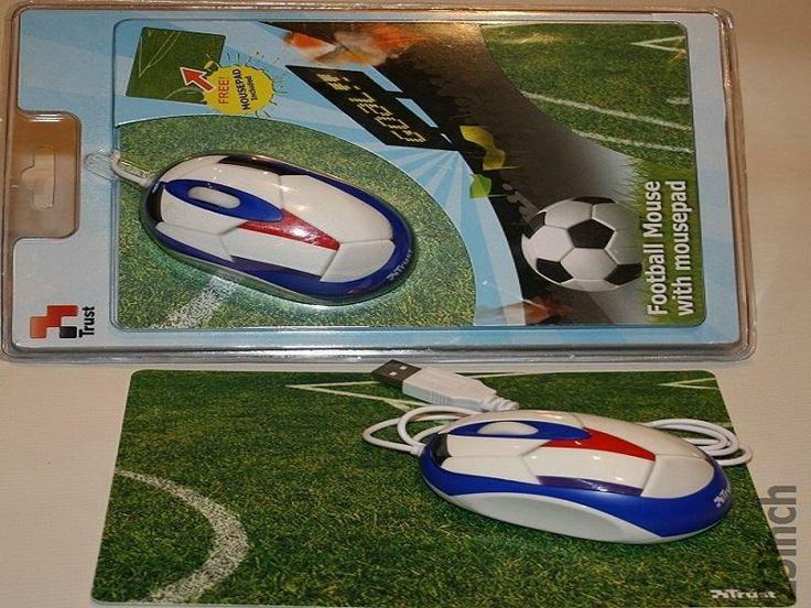 Myszka Football przewodowa Trust podkładka gratis