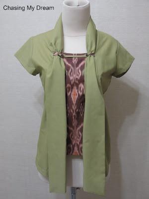 Green Kebaya with Tenun Bali