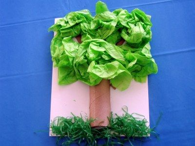 Tree Craft For Kids. It's a Tissue Paper Tree craft