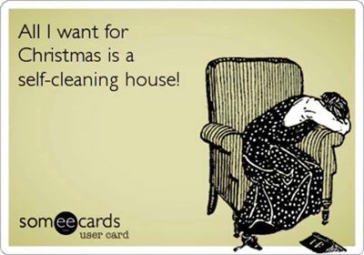 I'd settle for enough money to pay someone to clean!