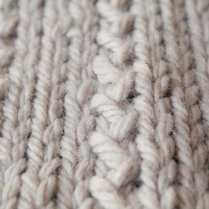 Snood tricoté au point fantaisie