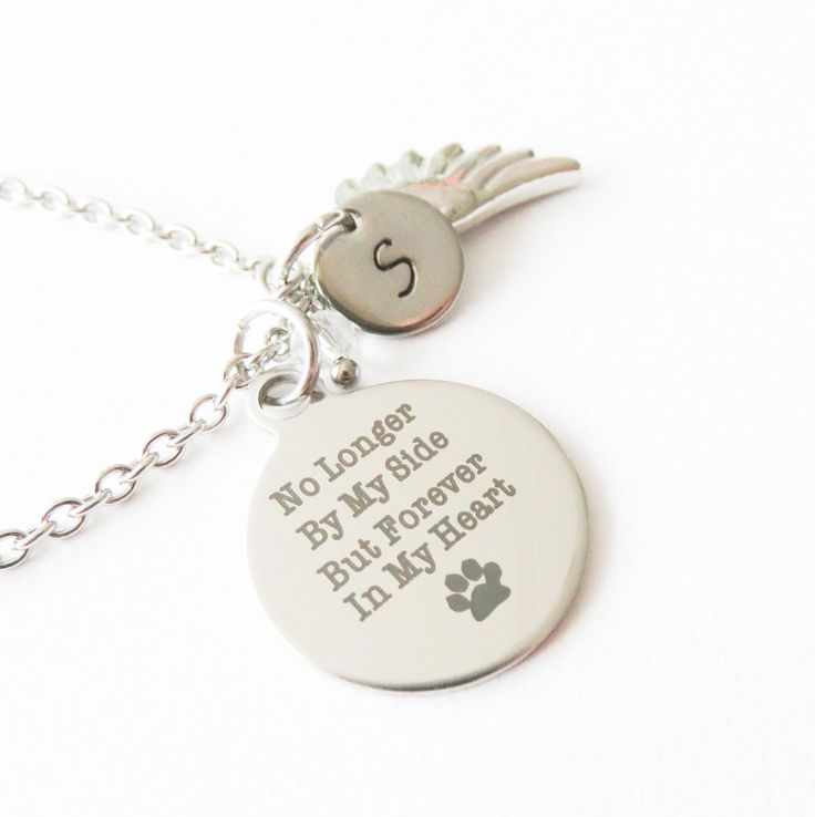Personalized pet memorial necklace, pet loss jewelry. #fashion #dogs #animals #jewelry #handmade #crafts #love #style #gifts