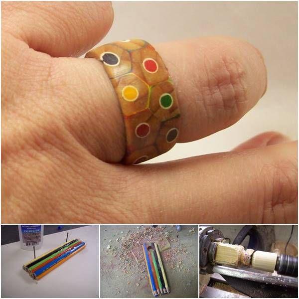 Creative Ideas - DIY Colored Pencil Ring