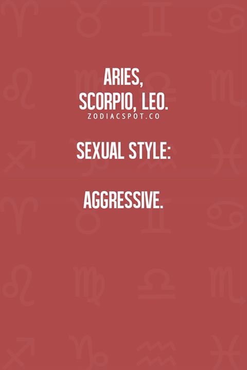 Leo and aries sex style