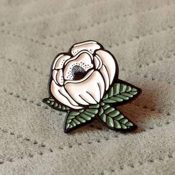 Magnolia Enamel Pin by ShayeDisplay on Etsy
