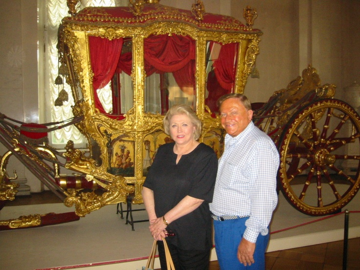 Author Barbara Taylor Bradford with her husband Bob in St. Petersburg