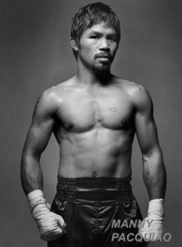 Manny Pacquiao Poster Standup 4inx6in black and white