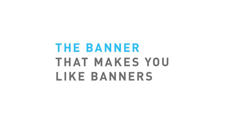 Post-it® The banner that makes you like banners