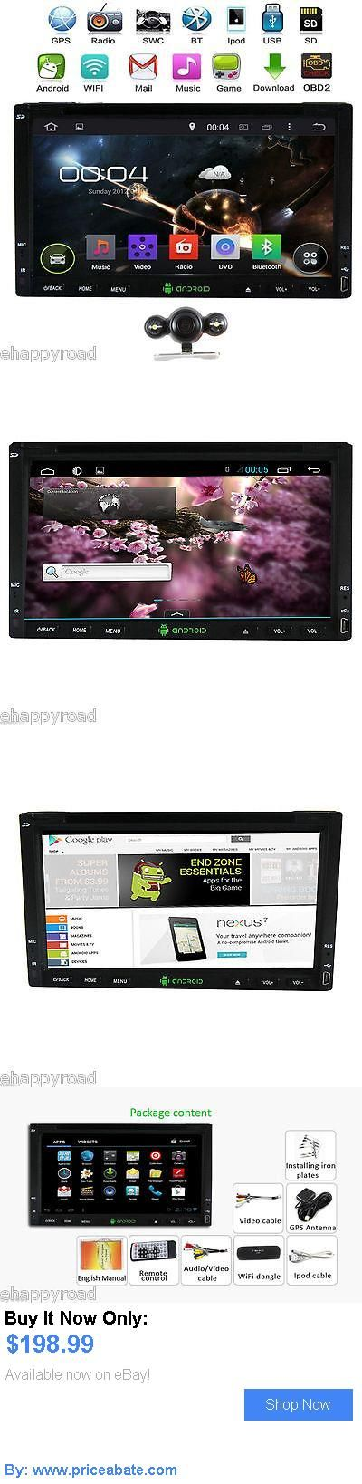 Vehicle Electronics And GPS: 7 Android 4.4 Capacitive 2Din Car Dvd Player Gps Radio Wifi 3G Bt Stereo Camera BUY IT NOW ONLY: $198.99 #priceabateVehicleElectronicsAndGPS OR #priceabate