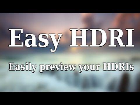 Easy HDRI – Load and test your HDRI images easily - BlenderNation