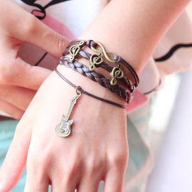 Handmade Violin Music Bracelet Infinity Bracelet,Lovely Signal Bracelet Charm Bracelet