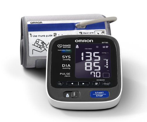 Omron BP785 10 Series Upper Arm Blood Pressure Monitor, Black/white at http://suliaszone.com/omron-bp791it-10-series-upper-arm-blood-pressure-monitor/