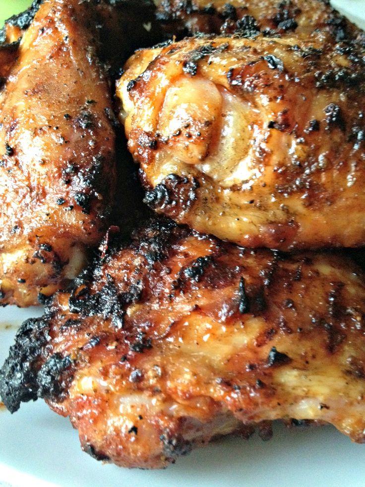 grilled chicken thighs bone in
