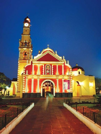The Parroquia San Jerónimo Church, in Coatepec, was constructed in 1702
